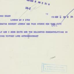 Letter : 1950 November 9