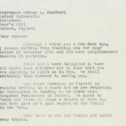 Invitation : 1950 November 22