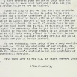 Letter : 1952 July 27