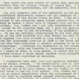 Letter : 1954 August 7