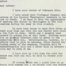 Letter : 1956 February 24