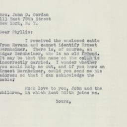 Letter : 1951 August 27