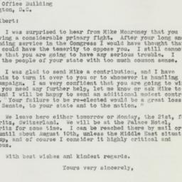 Letter : 1958 July 19