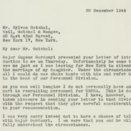 Letter : 1945 December 30