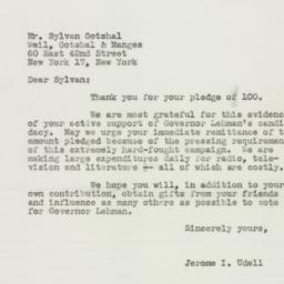 Letter : 1949 October 19