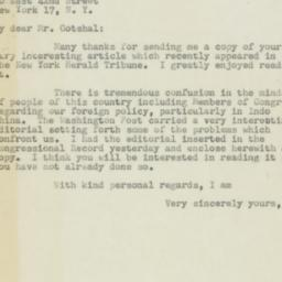 Letter : 1954 May 29