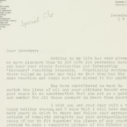 Letter : 1961 December 8