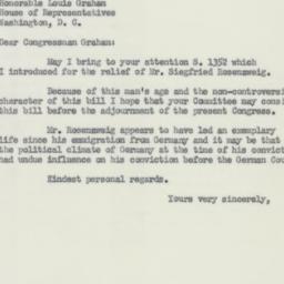 Letter : 1954 July 20