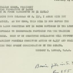 Invitation: 1951 February 1
