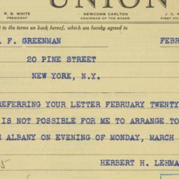 Letter : 1939 February 25