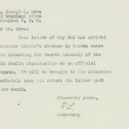Invitation: 1951 May 7