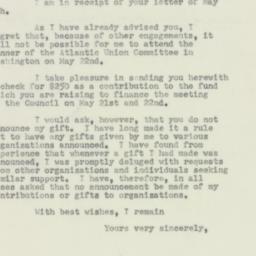 Invitation: 1952 May 17