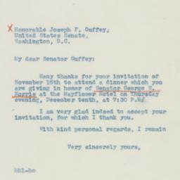Letter : 1942 November 23