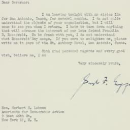 Letter : 1949 January 6