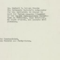 Telegram : 1943 June 23