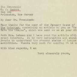 Letter : 1945 January 23