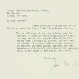 Letter : 1932 November 12