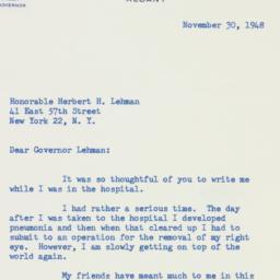 Letter : 1948 November 30
