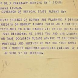 Letter : 1952 July 1