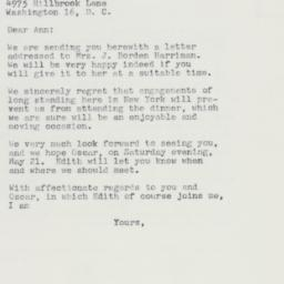 Letter : 1960 May 14
