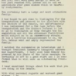 Letter : 1961 February 3