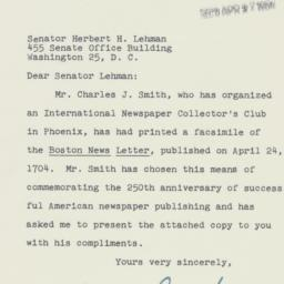 Letter : 1954 April 24