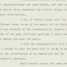 Telegram : 1932 November 10