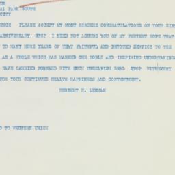 Letter : 1933 November 20