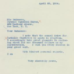 Letter : 1934 April 23