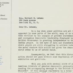 Letter : 1947 June 7