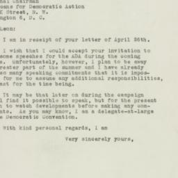 Letter : 1948 May 3
