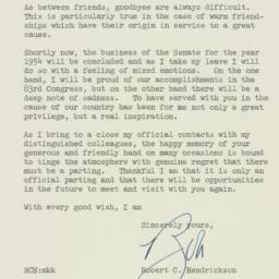 Letter : 1954 August 17