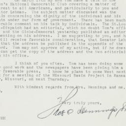 Letter : 1952 March 27