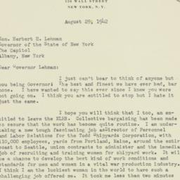 Letter : 1942 August 28