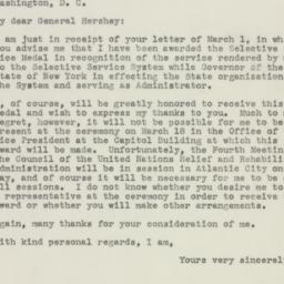 Letter: 1946 March 5