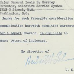 Letter : 1950 November 27