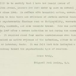 Letter: 1950 November 19