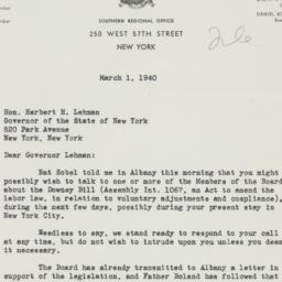 Letter : 1940 March 1