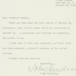 Letter : 1947 October 20