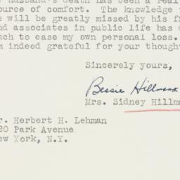 Telegram : 1946 August 8