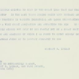 Telegram : 1933 October 9