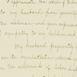 Memorandum : 1933 October 14