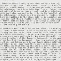 Memorandum : 1950 April 14
