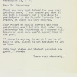 Letter : 1961 April 18