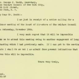 Letter: 1925 November 2