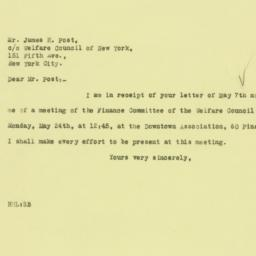 Letter : 1926 May 10