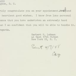 Letter : 1948 April 7