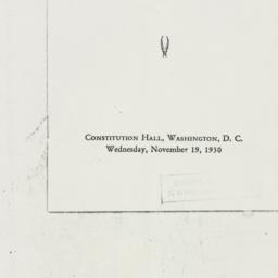 Letter : 1930 November 19