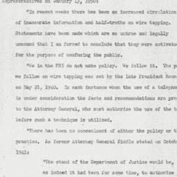 Letter: 1950 January 15