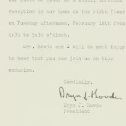 Letter : 1947 February 5